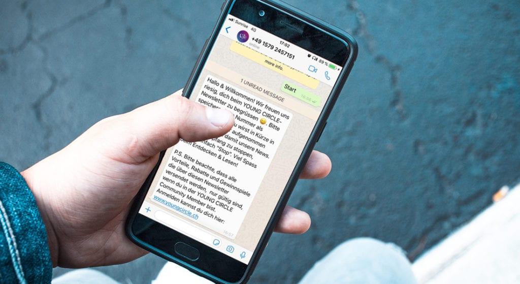 Jetzt Whatsapp-Newsletter abonnieren und up to date bleiben