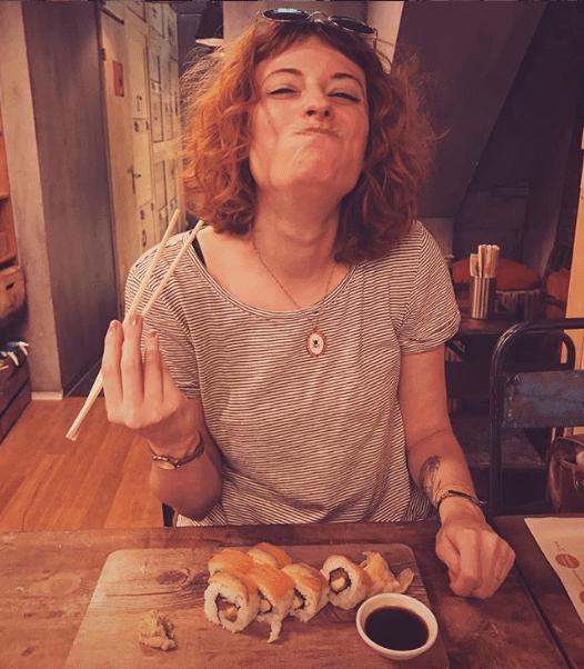 Geri am Sushi essen